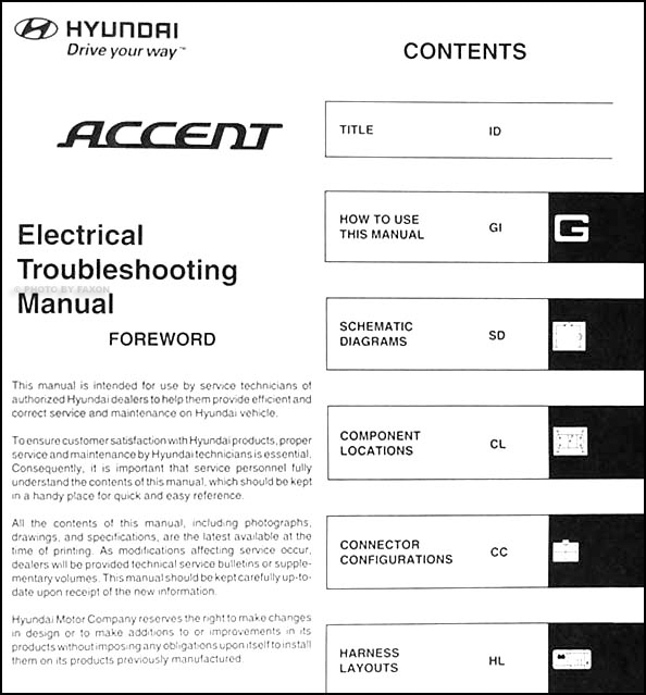 2006 hyundai accent electrical troubleshooting manual original rh faxonautoliterature com 2006 hyundai accent shop manual 2006 hyundai accent service manual