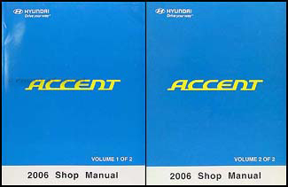 2006 hyundai accent repair shop manual 2 volume set original rh faxonautoliterature com 2006 hyundai accent service manual 2006 hyundai accent owners manual pdf download