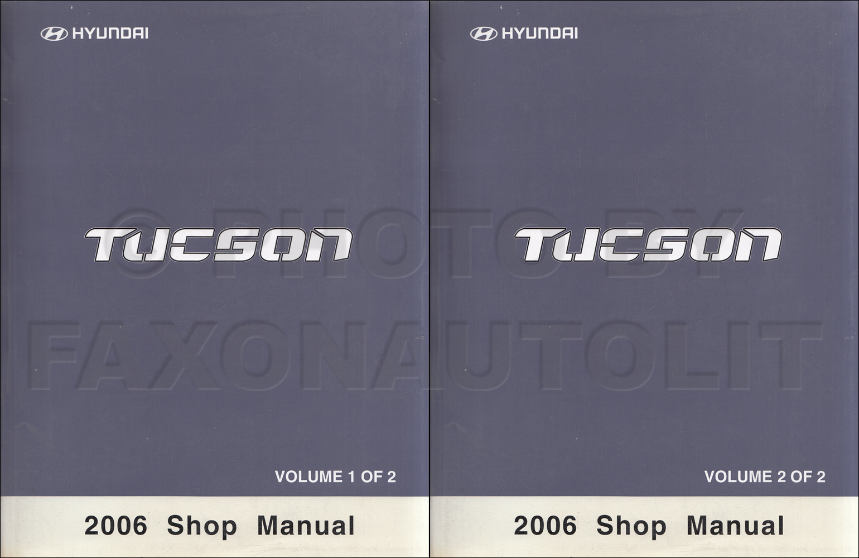 2006 Hyundai Tucson Repair Manual O2 Sensor Wiring Diagram Shop 2 Volume Set Original Rh Faxonautoliterature Com Pdf