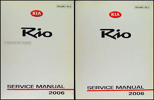 2006KiaRioORMSet 2006 kia rio repair shop manual original 2 vol set 2001 Kia Sportage Wiring-Diagram at gsmx.co