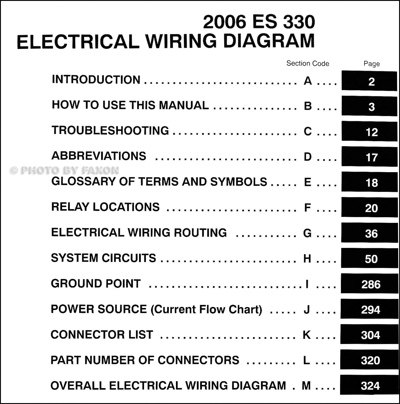 2006LexusESOWD TOC 2006 lexus es 330 wiring diagram manual original  at cos-gaming.co