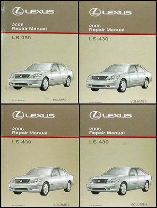 2006 lexus ls 430 repair shop manual original 4 volume set rh faxonautoliterature com lexus ls 430 owners manual lexus gs 430 repair manual