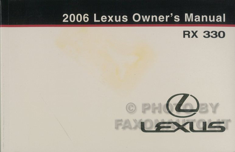 2006 Lexus Rx 330 Wiring Diagram Manual Original