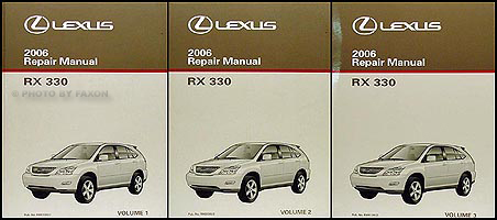 2006 lexus rx 330 repair shop manual original 3 volume set rh faxonautoliterature com lexus rx 350 user manual 2014 lexus rx 350 user manual