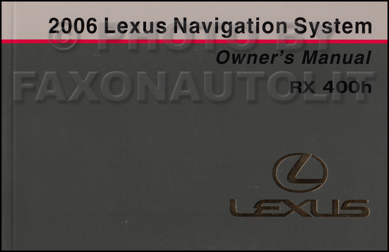 2006 lexus rx 400h repair shop manual 4 volume set original hybrid 2006 lexus rx 400h navigation system owners manual original