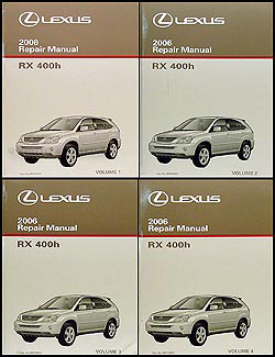 2006 lexus rx 400h repair shop manual 4 volume set original hybrid rh faxonautoliterature com 2006 lexus rx400h manual pdf 2006 lexus rx400h manual pdf