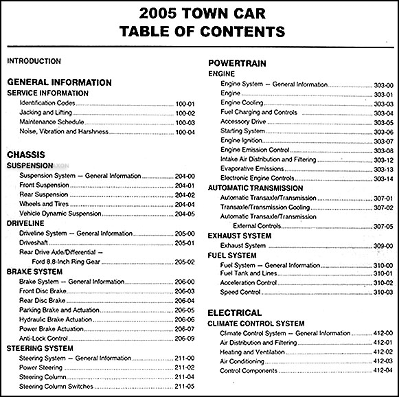 service manual work repair manual 2006 lincoln town car. Black Bedroom Furniture Sets. Home Design Ideas