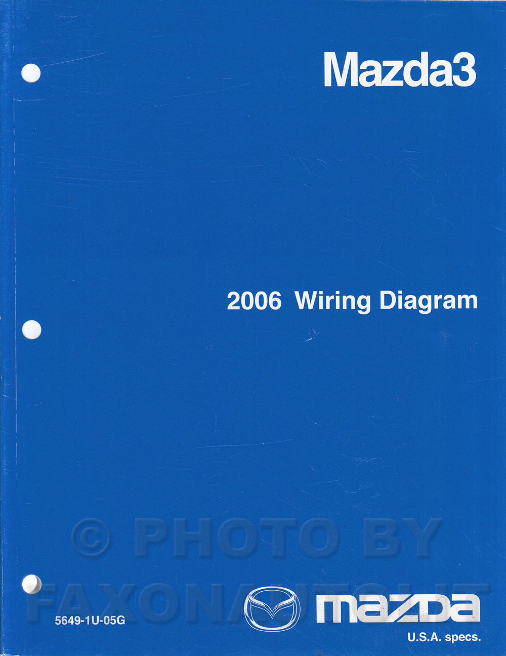 2006 mazda3 repair shop manual original