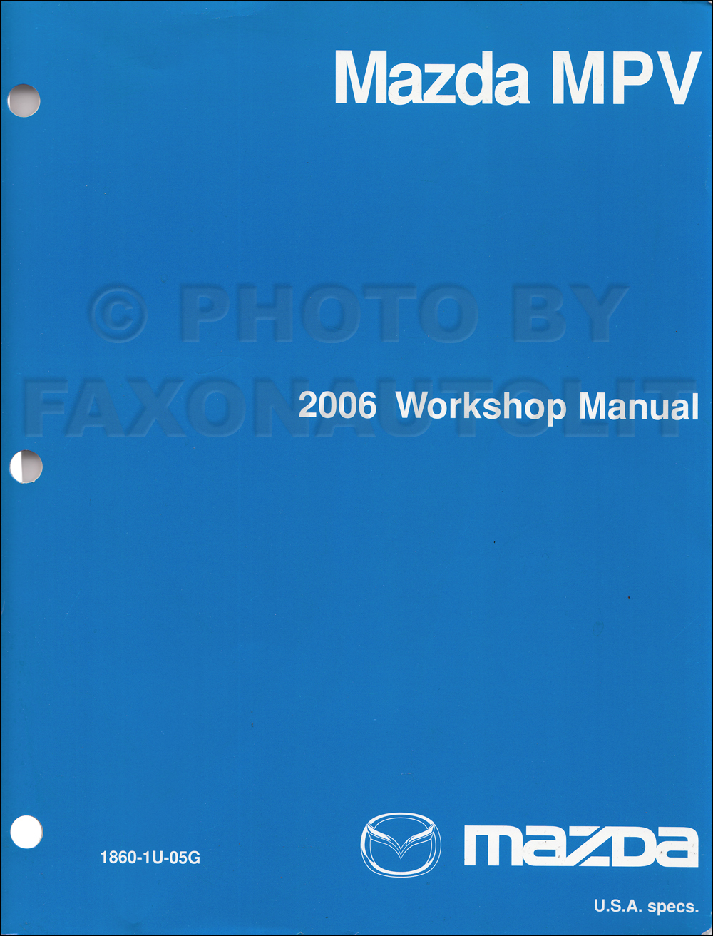 2006 mazda mpv wiring diagram manual original 2006 mazda mpv repair shop manual original 119 00