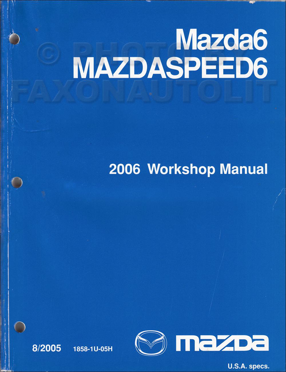 2005 mazda 6 repair manual