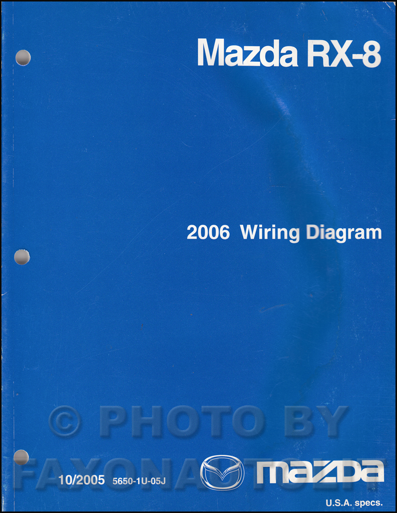 2006 mazda rx 8 repair shop manual original