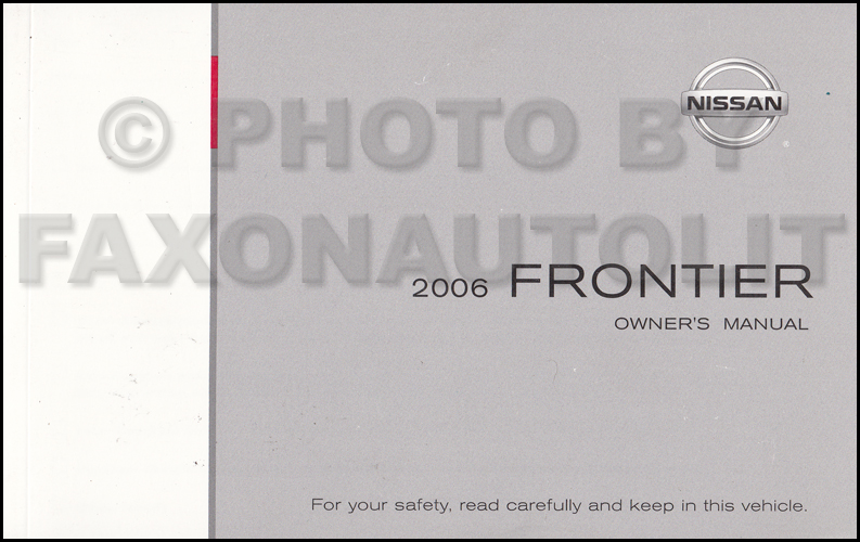 nissan frontier owners manual 2006