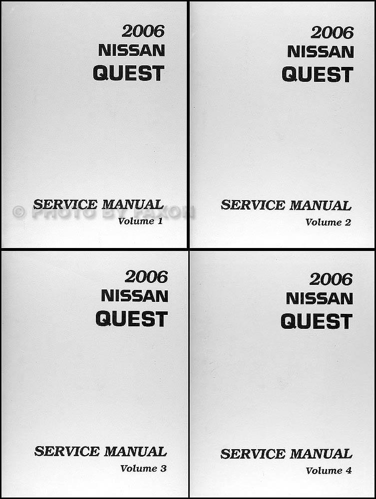 2006 Nissan Quest Repair Shop Manual 4 Volume Set Original