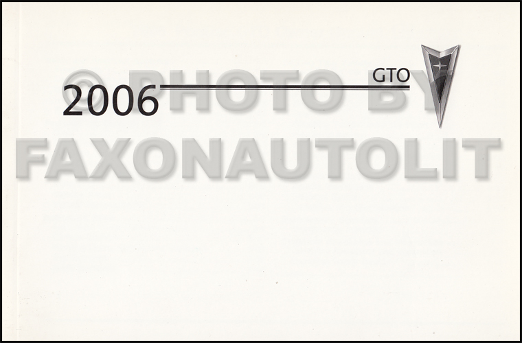 2006 pontiac pursuit owners manual