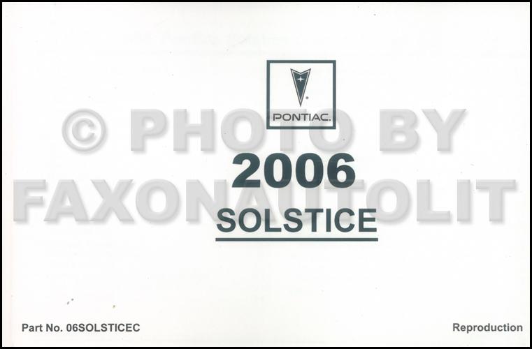 2006 pontiac solstice owner s manual rh faxonautoliterature com pontiac solstice owner's manual 2007 pontiac solstice repair manual
