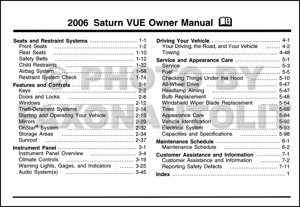 saturn owners manual daily instruction manual guides u2022 rh testingwordpress co 2003 Saturn Vue Problems 2003 saturn ion owner's manual