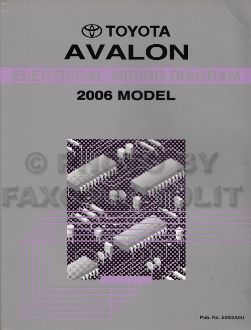 2006 toyota avalon wiring diagram manual original. Black Bedroom Furniture Sets. Home Design Ideas