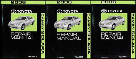 2006 toyota camry solara repair shop manual original set. Black Bedroom Furniture Sets. Home Design Ideas