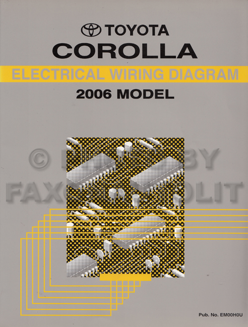 2006 toyota corolla wiring diagram manual original, Wiring diagram