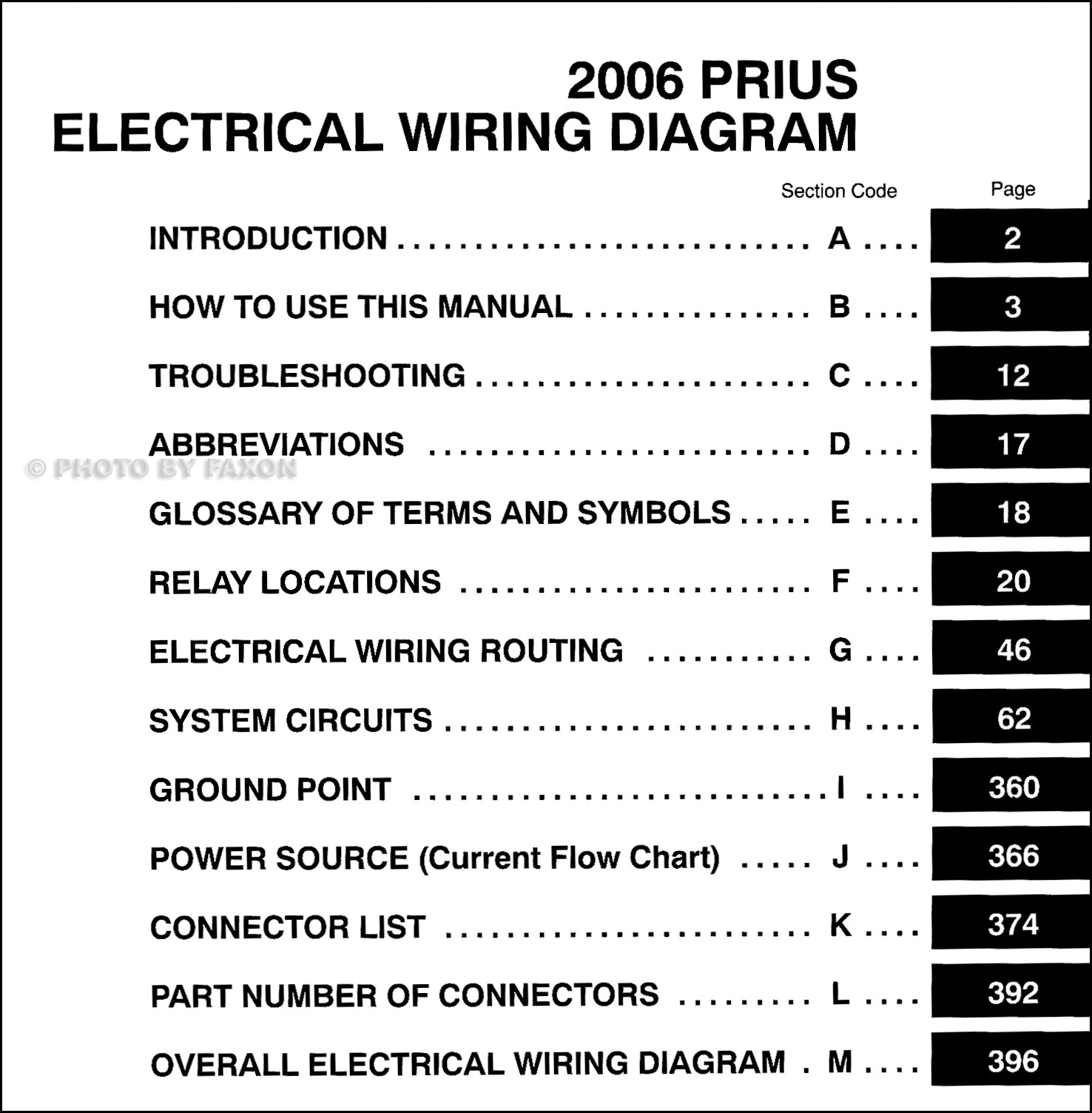 2006 toyota prius electrical wiring diagram toyota prius electrical wiring diagram