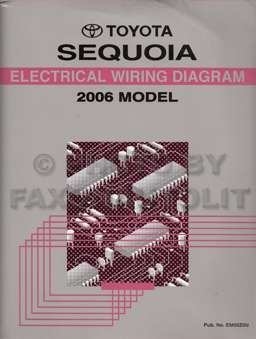 2006 toyota sequoia wiring diagram manual original rh faxonautoliterature com 2006 toyota tundra wiring schematic 2006 toyota tundra trailer wiring diagram