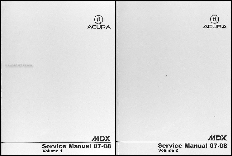 2007-2008 Acura MDX Shop Manual Original