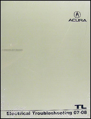 2007 2008 Acura Tl Electrical Wiring Diagram Troubleshooting Manual Ewd New