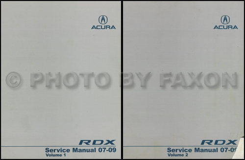 2007 Acura Rdx Repair Shop Manual Original border=