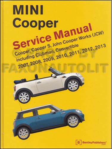 2007 2011 mini cooper repair shop manual. Black Bedroom Furniture Sets. Home Design Ideas