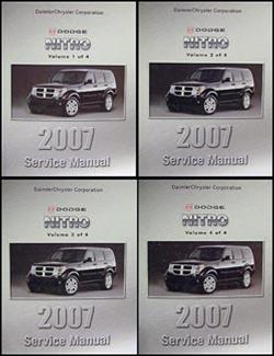 2007 dodge nitro repair shop manual 4 vol set original rh faxonautoliterature com 2007 dodge nitro repair manual pdf 2007 Dodge Nitro Service Manual