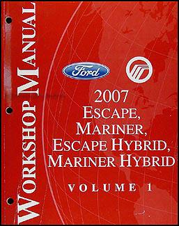 Ford escape hybrid 2005 2006 2007 2008 repair manual.
