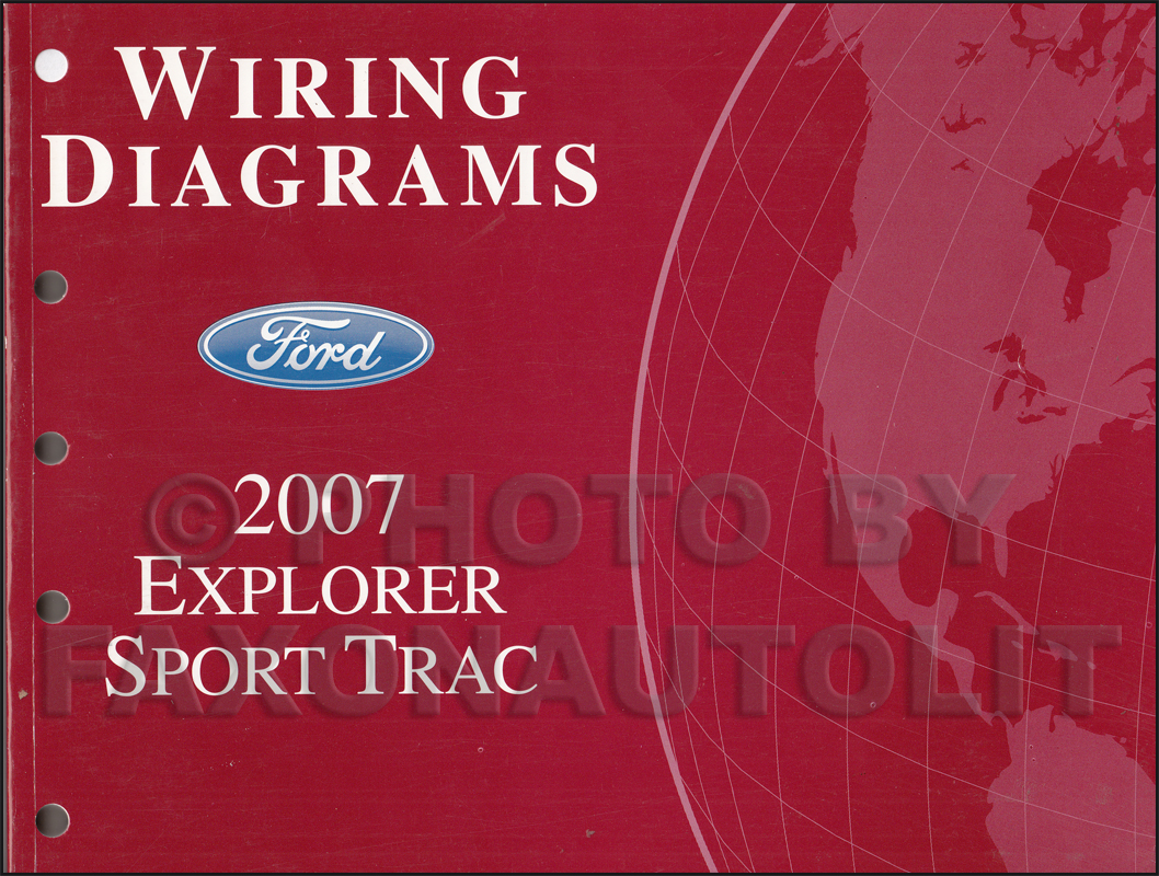 2007 ford explorer sport trac wiring diagram manual original rh faxonautoliterature com 2000 Explorer XLT Wiring-Diagram Gibson Explorer Wiring Diagram
