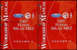 2007FordFusionORMSet2 2007 fusion, milan, mkz repair shop manual 2 volume set original mercury milan wiring diagram at n-0.co