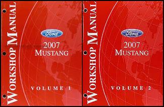2007 ford mustang repair shop manual original 2 volume set rh faxonautoliterature com 2007 Mustang Manual Drive 2007 Mustang Shop Manuals