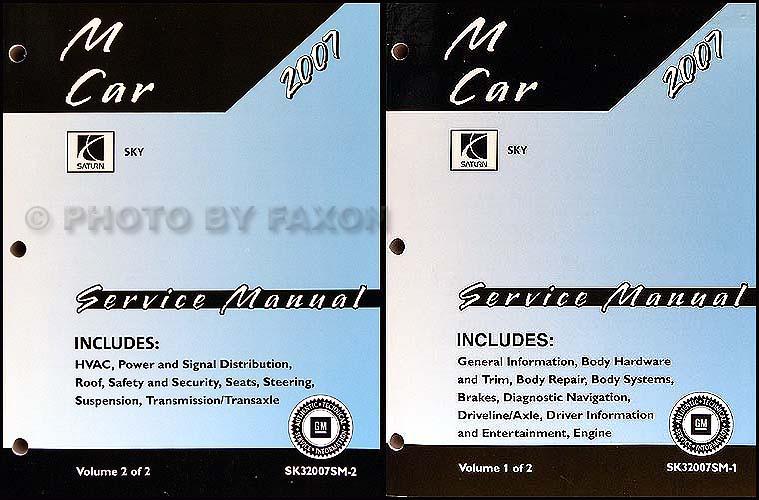 2007 saturn sky repair shop manual 2 volume set rh faxonautoliterature com 2007 Saturn Sky Problems 2008 Saturn Sky Turbo Red Lines