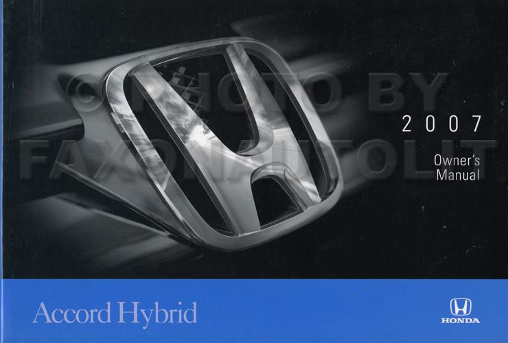 2007 honda accord hybrid owner 39 s manual original. Black Bedroom Furniture Sets. Home Design Ideas