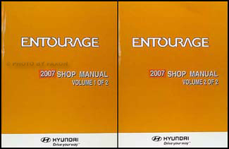Hyundai entourage repair manual.