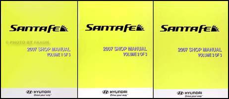 2007 hyundai santa fe repair shop manual 3 volume set original rh faxonautoliterature com hyundai santa fe 2007 service repair manual 2007 santa fe repair manual