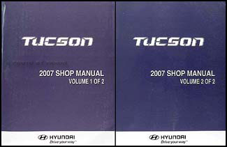 2007 hyundai tucson repair shop manual 2 volume set original. Black Bedroom Furniture Sets. Home Design Ideas