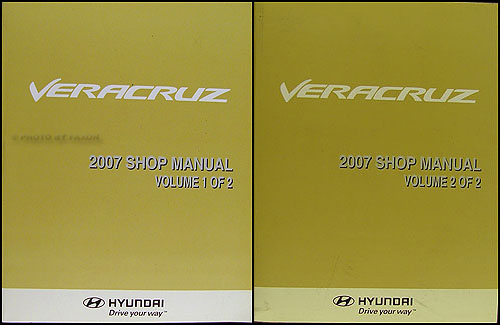 2007 Hyundai Veracruz Repair Shop Manual Original 2 Vol. Set Hyundai