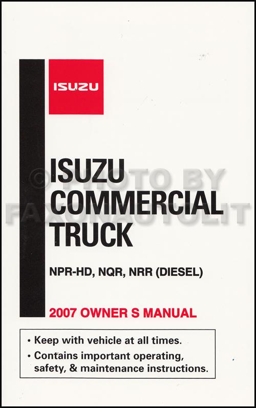 2007 Isuzu Npr Hd Owners Manual