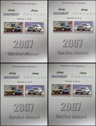 2007 jeep patriot compass repair shop manual set original 4 vol set rh faxonautoliterature com 2017 Jeep Compass Manual 2017 Jeep Compass Manual