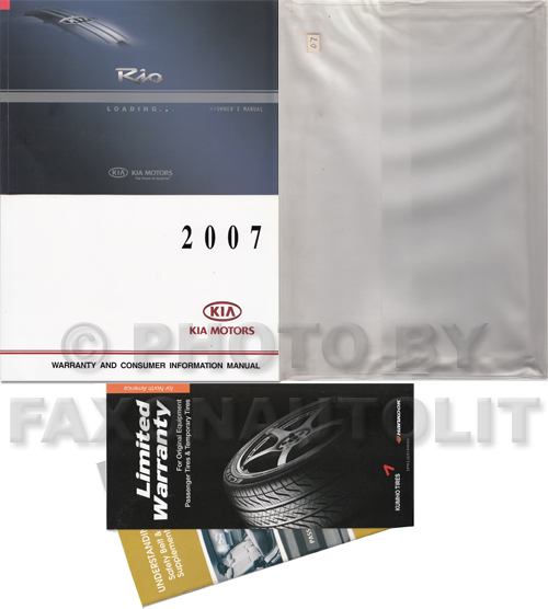 2007 kia rio owners manual original. Black Bedroom Furniture Sets. Home Design Ideas
