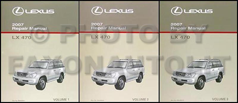 2007 lexus lx 470 repair shop manual original 3 volume set rh faxonautoliterature com 2007 lexus gx470 owners manual pdf 2007 lexus gx470 owners manual pdf