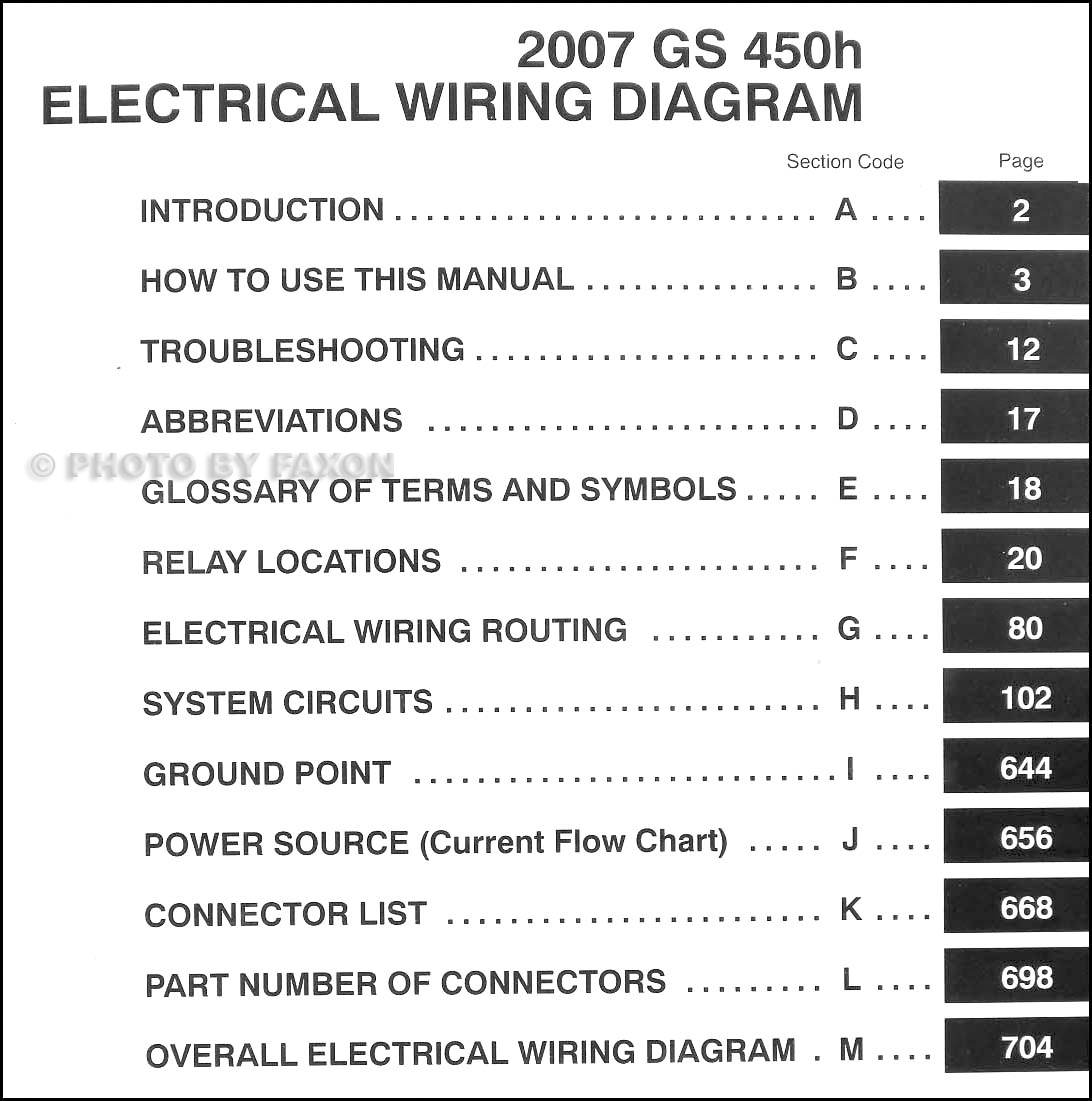 Wiring Diagram Manual Wdm : Lexus gs h wiring diagram manual original