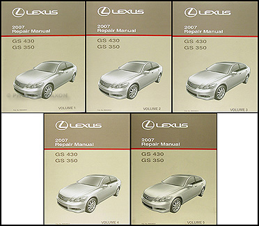 2007LexusGSORMSet3 2007 lexus gs 350 and gs 430 repair shop manual original 5 volume set hondarancher es 350 wiring diagram at edmiracle.co