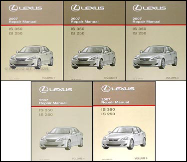 Elegant 2007 Lexus IS 350/IS 250 Repair Manual Set Original