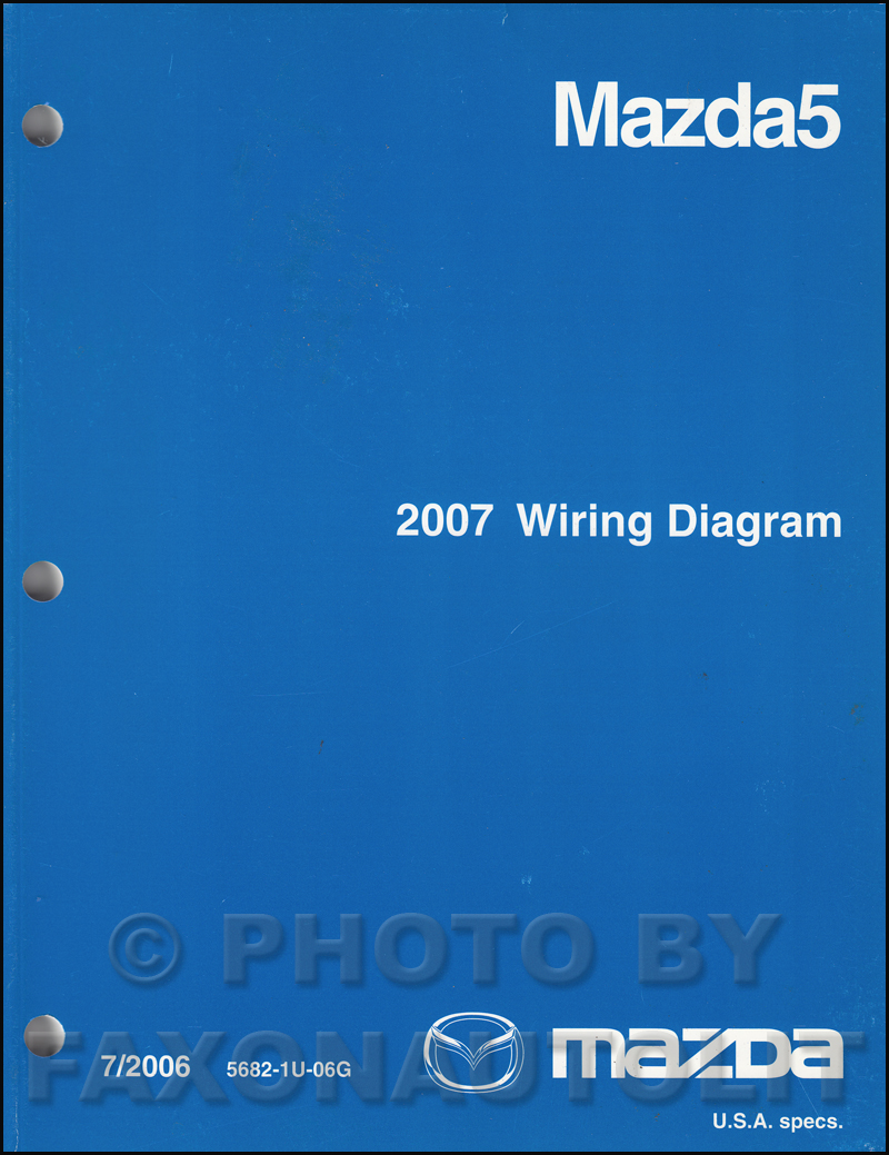 2007 mazda 5 repair shop manual original