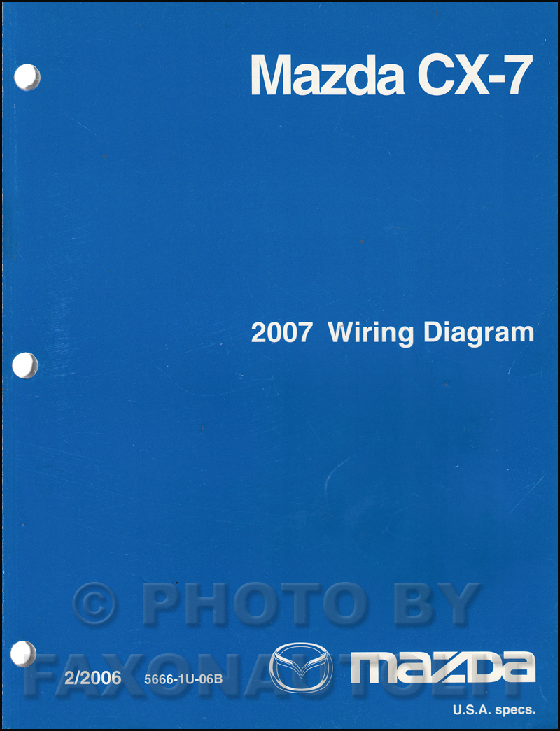 2007 mazda cx 7 wiring diagram manual original rh faxonautoliterature com
