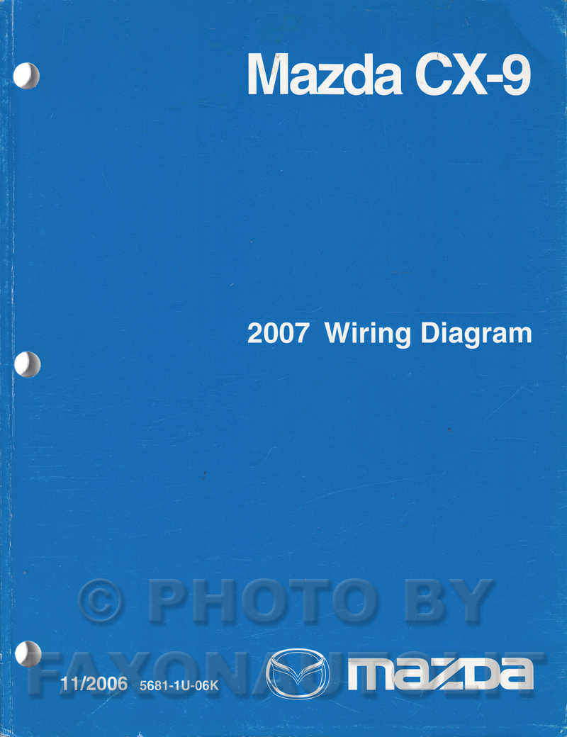 2007 mazda cx 9 repair shop manual original